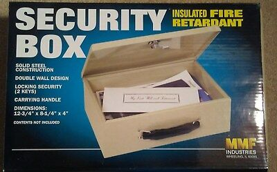 - Security Box - MMF Industries - Product 221 6140 03 - Insulated Fire Retardant