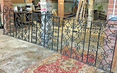 2 Hand Forged Antique Reclaimed Iron Drive Gates, 3.8m - Orpington, Kent