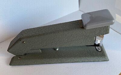 Vintage Bostitch Heavy Duty Desktop Stapler Mid-century Green B5 Textured