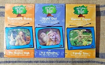 Once Upon A Tree VHS Lot - Teamwork Rules, Carrot Caper, Night Owl - *Sealed*