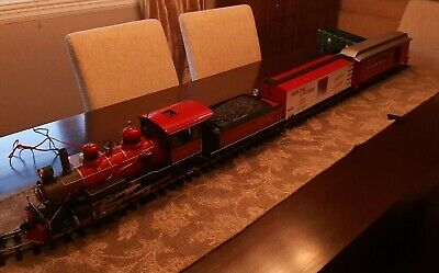 Bachmann G Scale Wonderland Flyer North Pole and Southern Train Set Christmas