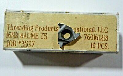 10 Pieces Tpi 16nr 8acme T5 Carbide Inserts  H448