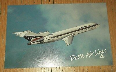 Delta Airlines Boeing 727 branded postcard MINT CONDITION 0442-02742