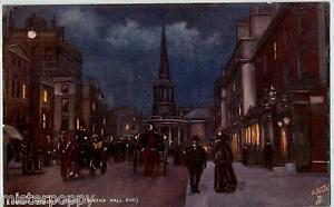 LONDON-Regent-Street-Queens-Hall-End-TUCK-series-6195-PC-UK-Posted-1905