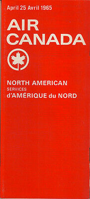 Air Canada North American timetable 4/25/65 [5071] Buy 2 get 1 free