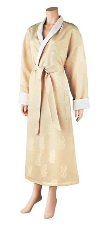 Majestic International Ritz Carlton Terry Lined Robe Wrap Around Bathrobe