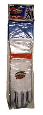 Power Rangers Silver Special Ranger Child Gloves - Operation Overdrive HTF NEW! Child Special Ranger Gloves