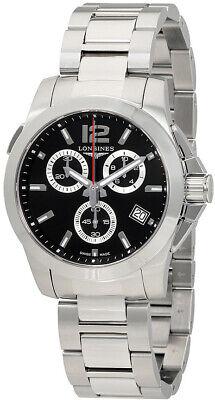 Longines Conquest Black Dial Men's Watch L3.702.4.56.6