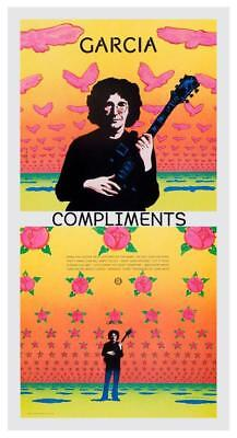 Jerry Garcia Poster   Compliments   Promo Ad    Grateful Dead 24  Amazing Print
