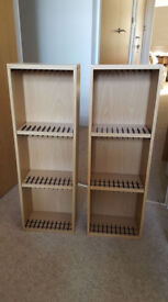 Pair of dvd storage shelving unit/Argos holds 66 dvds