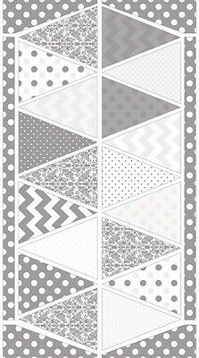 Hollywood Sparkle Shimmer Banner Gray, Riley Blake, 1 100% cotton fabric panel