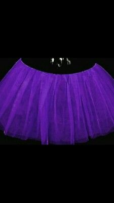 Plus Size Tutu Skirt (Purple Plus size tutu skirt Dance Fancy Party Clubwear Halloween Christmas)