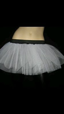 Plus Size White Tutu Skirt Rave Tulle Dance Fancy Party Pmo Halloween Christmas