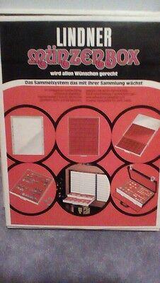 Vintage Linder Red Velvet Pin Jewelry Display Tray Holder Case