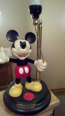 MICKEY MOUSE DISNEY ANIMATED TALKING LAMP damaged needs tlc