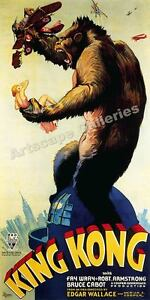 1933 King Kong Empire State Building Movie Poster - 18x36