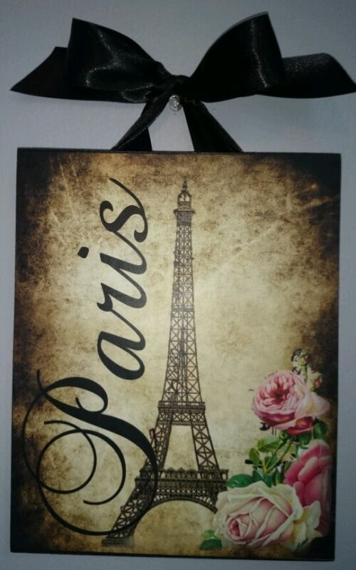 Paris Vintage French Country Cottage Chic Dark corners 8x10 - Wall Decor