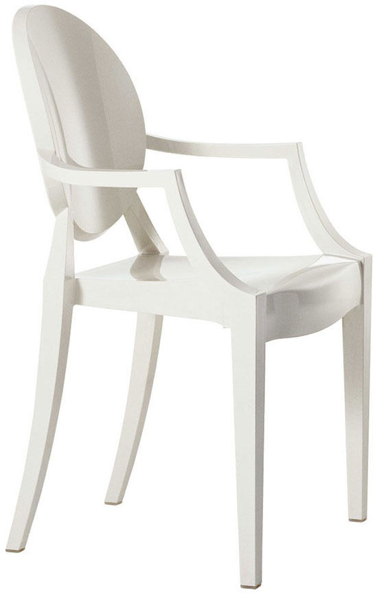 Kartell Childrens Bedroom Chair Lou Lou Ghost Glossy White RRP £72 SALE £61.20