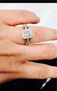 Charm diamond Engagement ring for sale