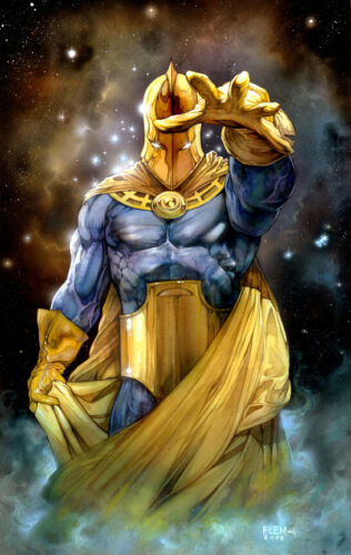 DR. FATE SIGNED PRINT- Tom FLEMing