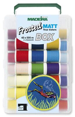 Madeira Frosted Matt Incredible Threadable-40 Spool Box Incredible Threadable Box