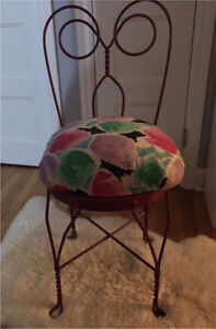 SWEET METAL VANITY, ACCENT CHAIR...! Comfy One of a kind!