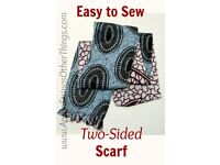 Tailor/Seamstress needed for two-sided scarf