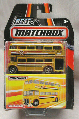 2016 BEST OF MATCHBOX GOLD ROUTEMASTER DOUBLE DECKER BUS, SEE CARD