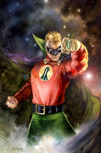 ALLEN SCOTT Green Lantern SIGNED PRINT- Tom FLEMing
