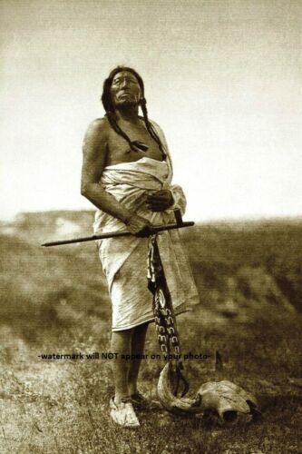 Slow Bull PHOTO Sioux Battle of Little Bighorn Indian Medicine Man 1907 Warrior