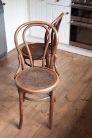 Pair Bentwood/ Mundus Bistro/Cafe Chairs