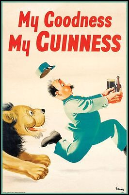 GUINNESS - MY GOODNESS - VINTAGE ADVERTISING ART POSTER 24x36 - 36703