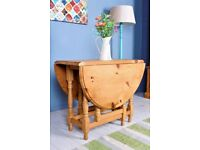 DELIVERY OPTIONS - FARMHOUSE PINE GATELEG KITCHEN TABLE RUSTIC SEATS 6