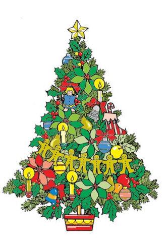 Christmas Tree 5 Feet Standing Woodworking Pattern - #624