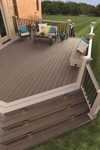 Massive clearance composite decking material