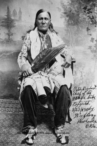 Osage Chief Peter Bigheart PHOTO Native American Indian 1909 Oklahoma