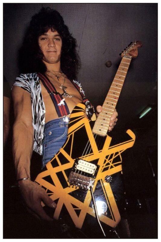 "Eddie Van Halen *LARGE 24"" POSTER* Fender Strat Guitar - AMAZING EARLY PIC"