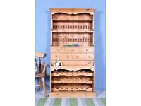DELIVERY OPTIONS - LOVELY OLD FARMHOUSE STYLE RUSTIC PINE DRESSER WAXED
