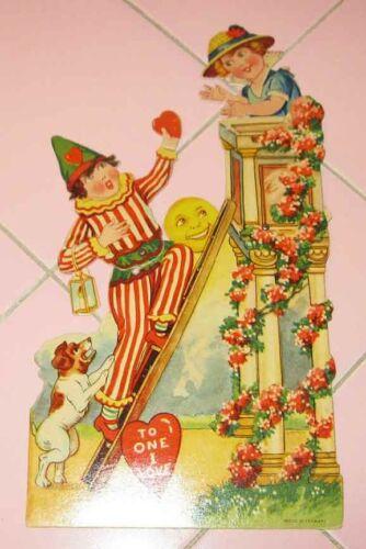 Vintage 1930s Valentine Card Germany Ladder Romeo Juliet To One I Love