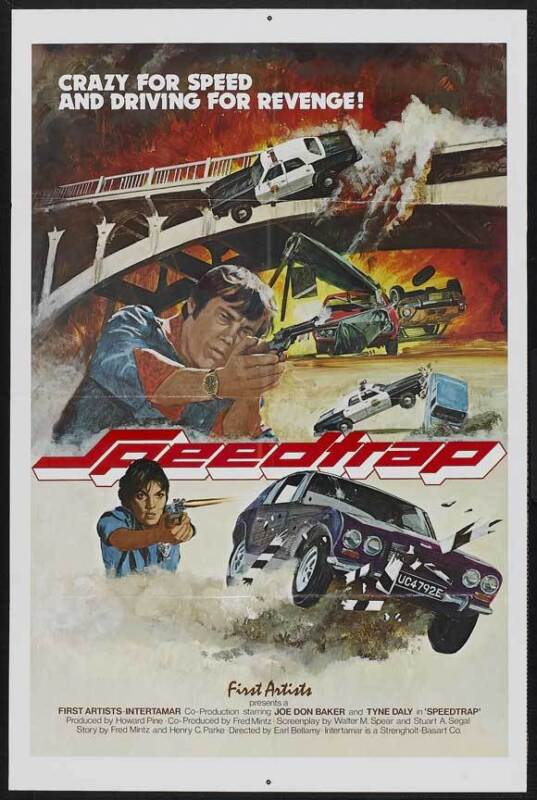 SPEEDTRAP Movie POSTER 27x40 Joe Don Baker Tyne Daly Richard Jaeckel Robert