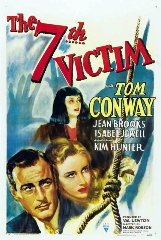 THE SEVENTH VICTIM Movie POSTER 27x40