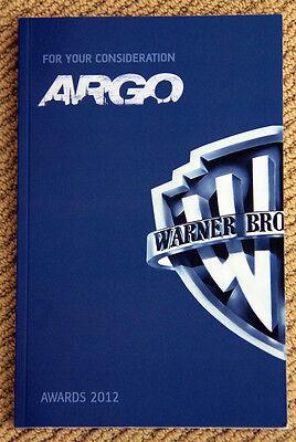 ARGO screenplay RARE 2012 OSCAR WINNING script BEN AFFLECK Bryan Cranston