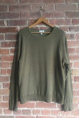Acne Men's Raglan Sleeve Sweatshirt, Size Large, 100% Cotton