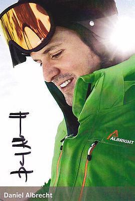 Alpine ski world champion Daniel Albrecht signed photocard