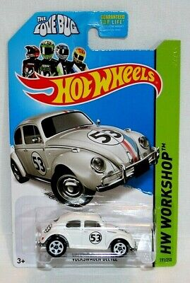 '14 Hot Wheels HW Workshop Volkswagen Beetle 1/64 Collector #191 Herbie Love Bug
