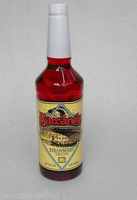 Gourmet Strawberry Syrup 32oz. Barcarola Coffee Drink And Italian Soda Flavor