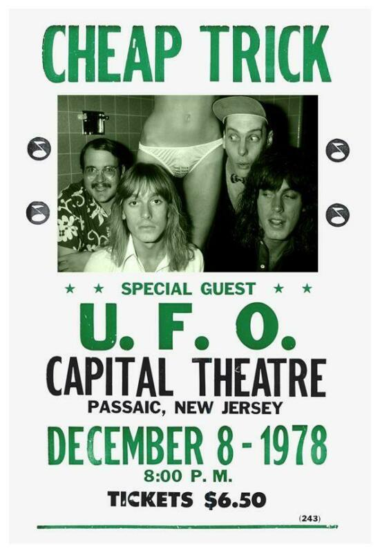 Cheap Trick _POSTER_ Live in 1978 with U.F.O. in New Jersey - Michael Schenker