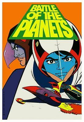 Battle of the Planets POSTER  **VERY LARGE** G-Force Cartoon Japanese