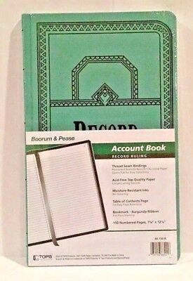 Boorum Pease 66 Series Account Book Record 150 Pages 66-150-r 66150r New