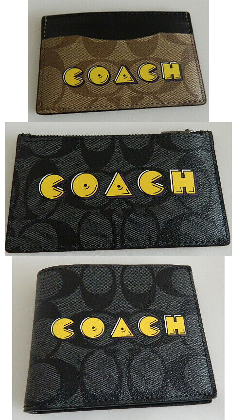 COACH x PAC MAN Men's Wallets and Accessories NWTs 3 DESIGNS